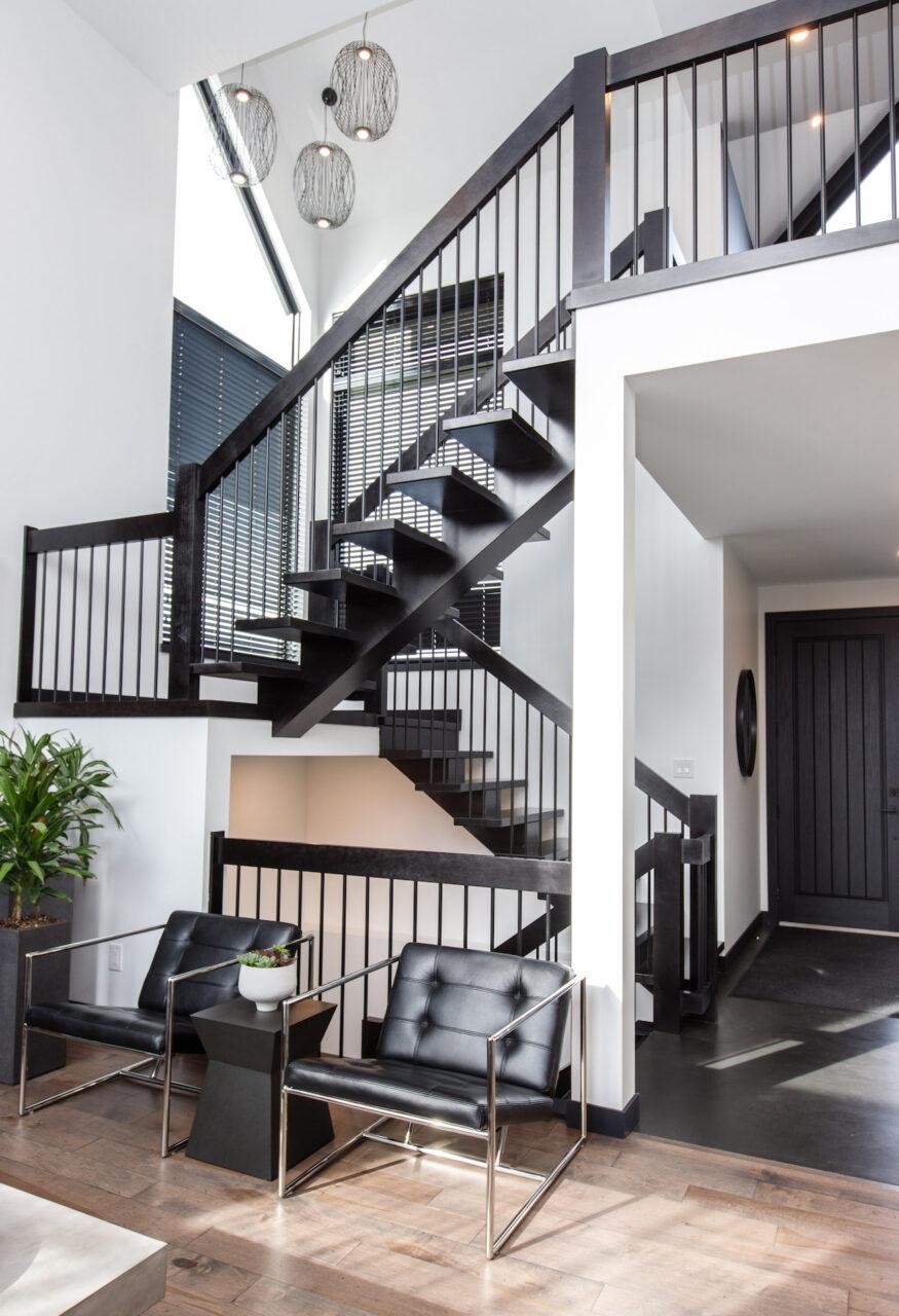 modern glass staircase