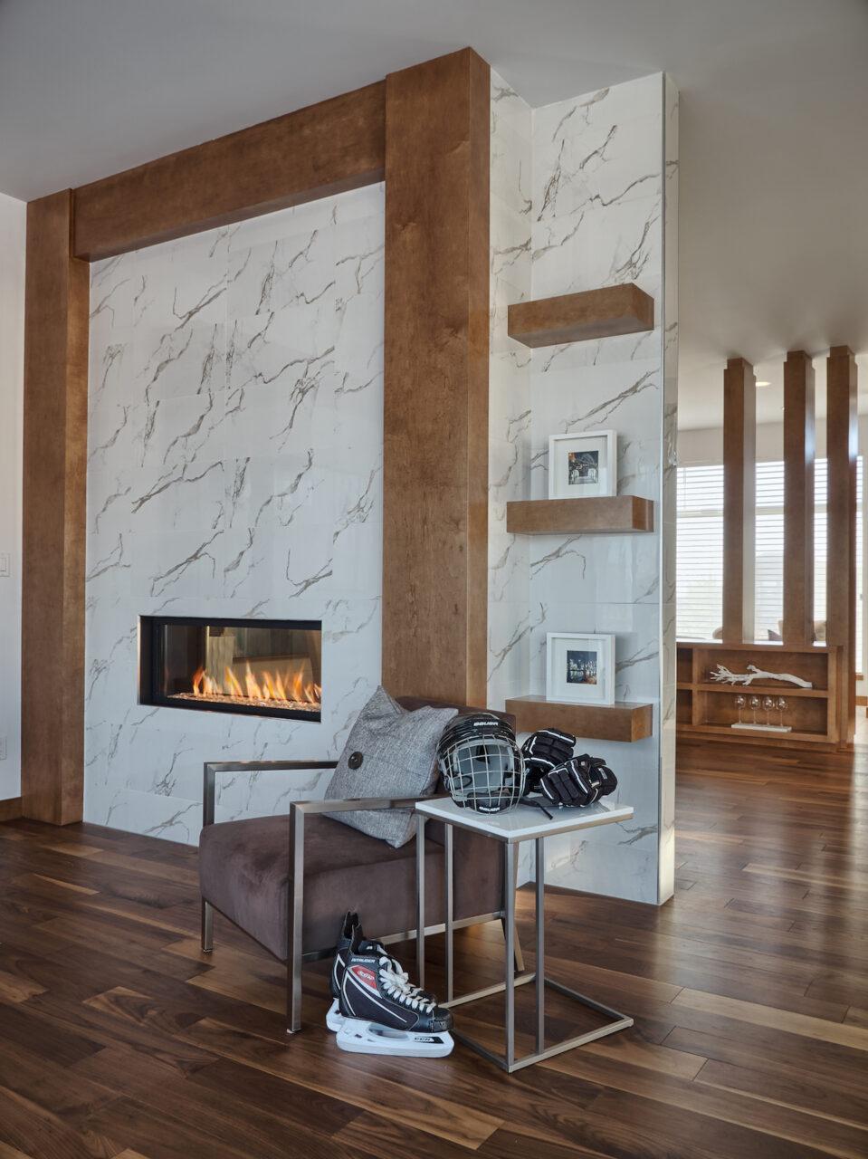 custom granite fireplace