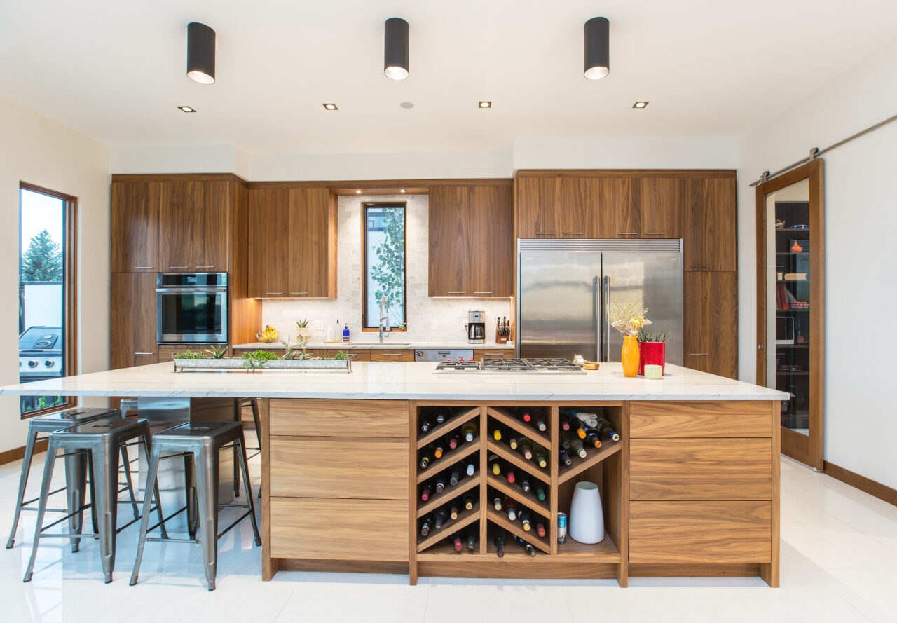 showhome with custom kitchen